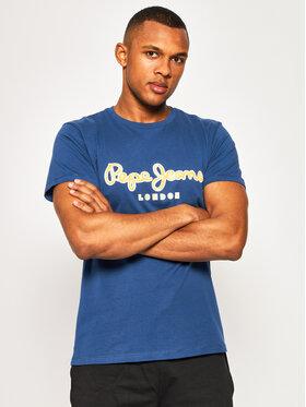Pepe Jeans Pepe Jeans T-Shirt Merton PM507167 Dunkelblau Regular Fit