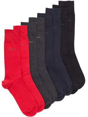 Boss Boss Комплект 4 чифта дълги чорапи мъжки 4P Rs Giftset Uni Cc 50420240 Цветен