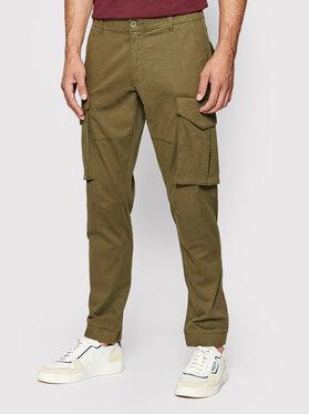 Only & Sons Only & Sons Spodnie materiałowe Kim Cargo 22020490 Zielony Regular Fit