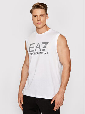 EA7 Emporio Armani EA7 Emporio Armani Tank top marškinėliai 3KPT80 PJ02Z 1100 Balta Regular Fit