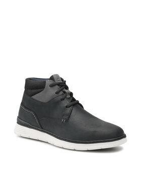Clarks Clarks Šnurovacia obuv Braxin Mid 261557277 Čierna
