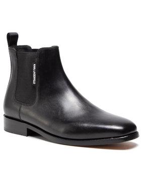 KARL LAGERFELD KARL LAGERFELD Kotníková obuv s elastickým prvkem KL12735 Černá