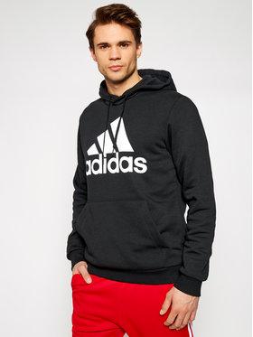 adidas adidas Pulóver Bl Fl Hd GK9220 Fekete Regular Fit