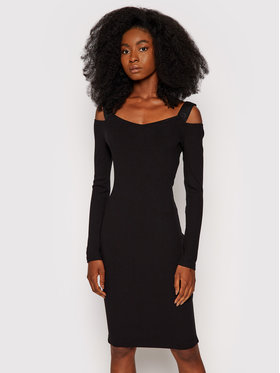 Guess Guess Úpletové šaty Annagreta W1YK0A K8RT2 Černá Slim Fit