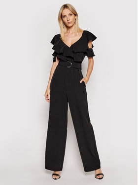 Guess Guess Ολόσωμη φόρμα Palazzo W1GD9Z WB4H2 Μαύρο Slim Fit