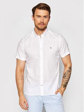 Tommy Hilfiger Tommy Hilfiger Koszula Travel Oxford MW0MW17618 Biały Slim Fit