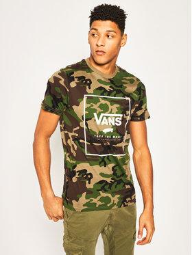 Vans Vans Tričko Print Box VN0A312SC9H1 Zelená Slim Fit