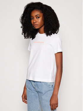 Calvin Klein Jeans Calvin Klein Jeans Тишърт J20J215322 Бял Regular Fit