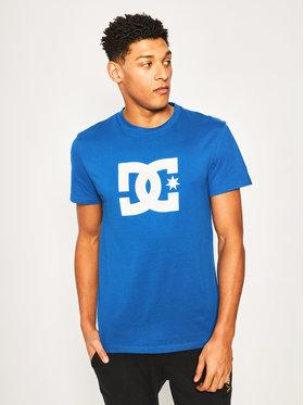 DC DC T-Shirt EDYZT04083 Niebieski Regular Fit