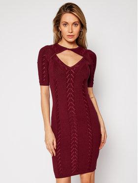 Guess Guess Sukienka dzianinowa W0RK64 R2BF3 Bordowy Slim Fit