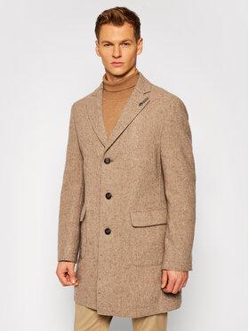 Baldessarini Baldessarini Vlnený kabát Clark-2 18686/000/8898 Béžová Regular Fit