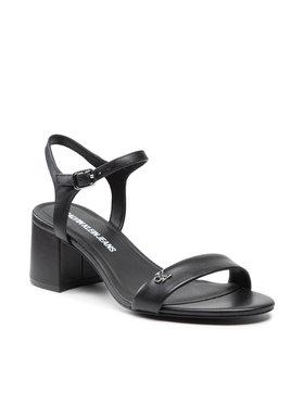 Calvin Klein Jeans Calvin Klein Jeans Sandále Heel Sandal Strap Lth YW0YW00135 Čierna