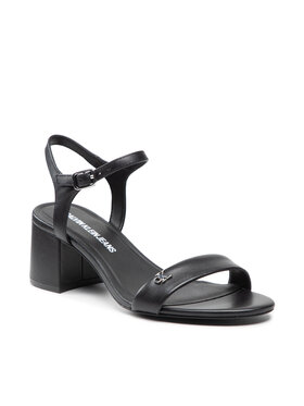 Calvin Klein Jeans Calvin Klein Jeans Sandály Heel Sandal Strap Lth YW0YW00135 Černá