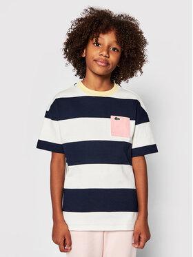 Lacoste Lacoste Marškinėliai TJ0240 Tamsiai mėlyna Regular Fit