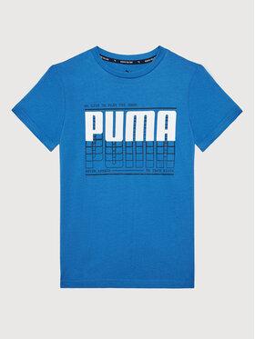 Puma Puma Marškinėliai Active Sports Graphic Tee 581173 Mėlyna Regular Fit