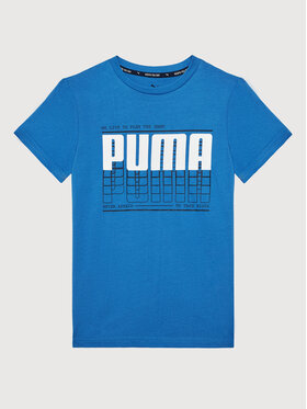 Puma Puma Tričko Active Sports Graphic Tee 581173 Modrá Regular Fit