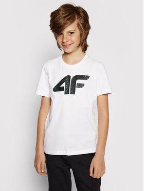 4F 4F Marškinėliai HJL21-JTSM010B Balta Regular Fit