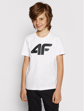 4F 4F T-shirt HJL21-JTSM010B Bianco Regular Fit