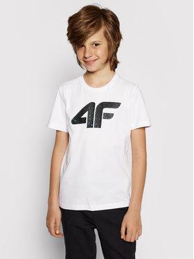 4F 4F T-shirt HJL21-JTSM010B Blanc Regular Fit