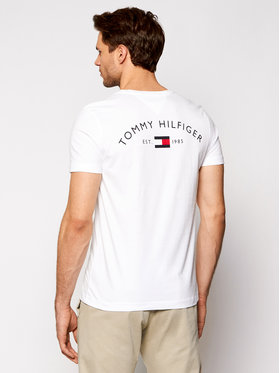 Tommy Hilfiger Tommy Hilfiger T-shirt Back Logo MW0MW17681 Blanc Regular Fit