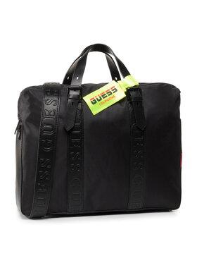 Guess Guess Taška na laptop Dan (NYLON) HMDNNY P0213 Čierna