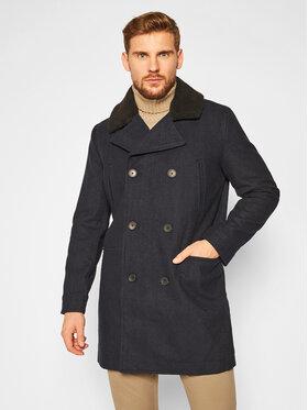 Lee Lee Vlnený kabát Peacoat L86RLBHY Tmavomodrá Regular Fit