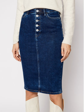 Guess Guess Džínová sukně 80's Longuette W1RD0M D4663 Tmavomodrá Slim Fit