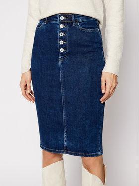 Guess Guess Džinsinis sijonas 80's Longuette W1RD0M D4663 Tamsiai mėlyna Slim Fit