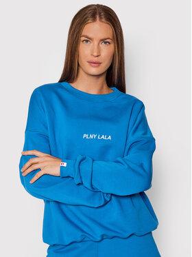 PLNY LALA PLNY LALA Majica dugih rukava Flora PL-BL-FO-00022 Plava Oversize