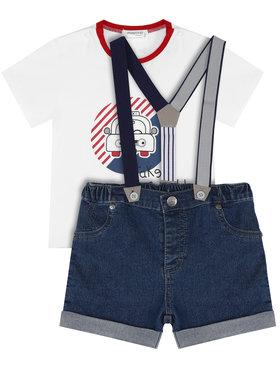 Mayoral Mayoral Komplet T-shirt i szorty jeansowe 1275 Kolorowy Regular Fit