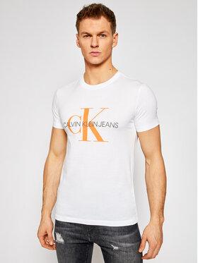 Calvin Klein Jeans Calvin Klein Jeans Marškinėliai J30J317065 Balta Regular Fit
