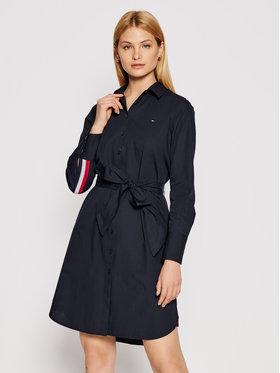 Tommy Hilfiger Tommy Hilfiger Φόρεμα πουκάμισο Pop Monica WW0WW30508 Σκούρο μπλε Regular Fit