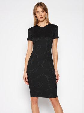 Guess Guess Sukienka codzienna Rhoda W1RK98 KAFA2 Czarny Slim Fit