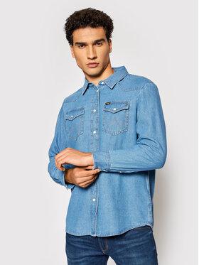 Wrangler Wrangler chemise en jean W5S9LWX8E Bleu Regular Fit