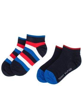 Tommy Hilfiger Tommy Hilfiger Sada 2 párů dětských vysokých ponožek 354010001 Tmavomodrá