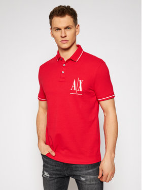 Armani Exchange Armani Exchange Polo 8NZFPA Z8M5Z 1400 Czerwony Regular Fit
