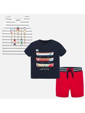 Mayoral Mayoral Set tricou, top și pantaloni scurți 1693 Colorat Regular Fit