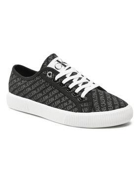 Calvin Klein Jeans Calvin Klein Jeans Tenisky Vulcanized Sneaker Laceup Aop Co YW0YW00155 Čierna