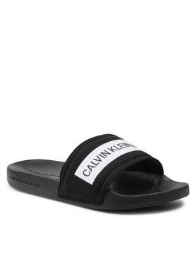 Calvin Klein Jeans Calvin Klein Jeans Klapki Slide Tape Inst Co YW0YW00409 Czarny
