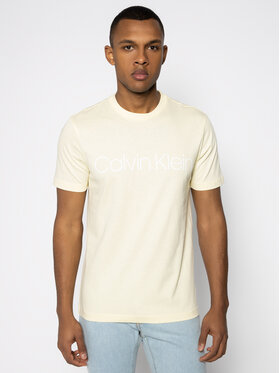 Calvin Klein Calvin Klein Тишърт Front Logo K10K103078 Жълт Regular Fit