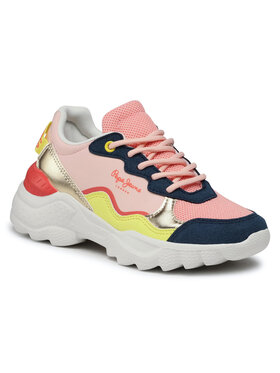 Pepe Jeans Pepe Jeans Sneakersy Eccles Junior Summe PGS30490 Różowy