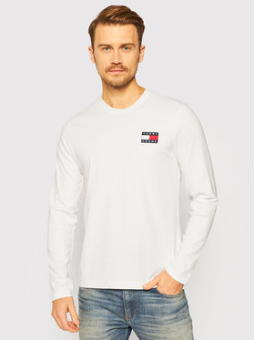 Tommy Jeans Tommy Jeans Тениска с дълъг ръкав Badge DM0DM09400 Бял Regular Fit