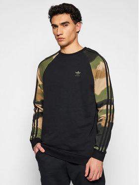 adidas adidas Μπλούζα Camo Stripes GN1858 Μαύρο Regular Fit