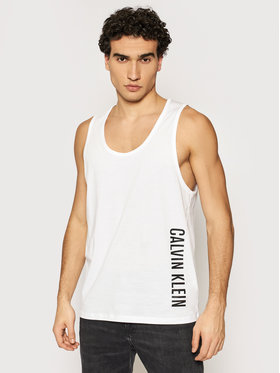 Calvin Klein Swimwear Calvin Klein Swimwear Tank top KM0KM00609 Λευκό Relaxed Fit