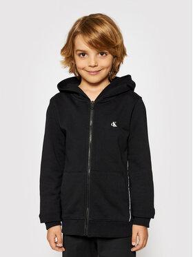 Calvin Klein Jeans Calvin Klein Jeans Sweatshirt Logo Piping Zip Through IB0IB00689 Schwarz Regular Fit