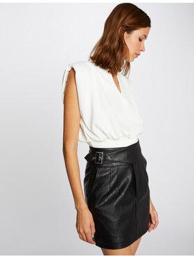 Morgan Morgan Dirbtinės odos sijonas 212-JACKIE Smėlio Slim Fit