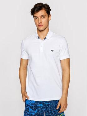 Emporio Armani Emporio Armani Тениска с яка и копчета 211804 1P461 00010 Бял Regular Fit