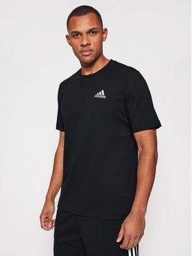 adidas adidas Marškinėliai Essentials Embroidered Small Logo Tee GK9639 Juoda Regular Fit