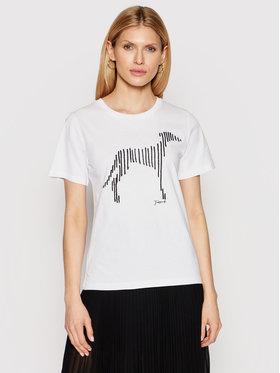 Trussardi Trussardi T-Shirt 56T00357 Bílá Regular Fit