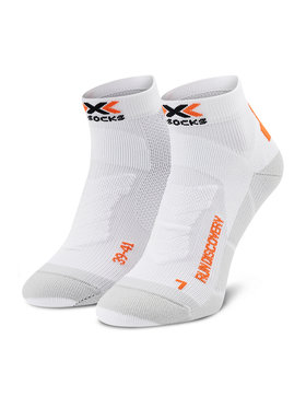 X-Socks X-Socks Calzini lunghi da uomo Run Discovery XSRS18S19U Bianco